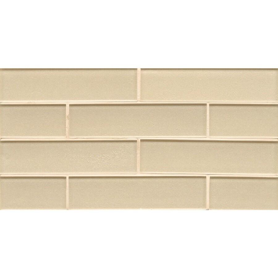 Decorative Wall Tiles Lowes : Bedrosians manhattan cashmere subway mosaic glass