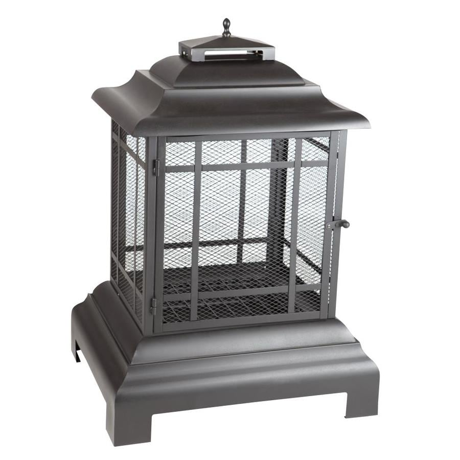 Shop Fire Sense Black Steel Outdoor Wood Burning Fireplace