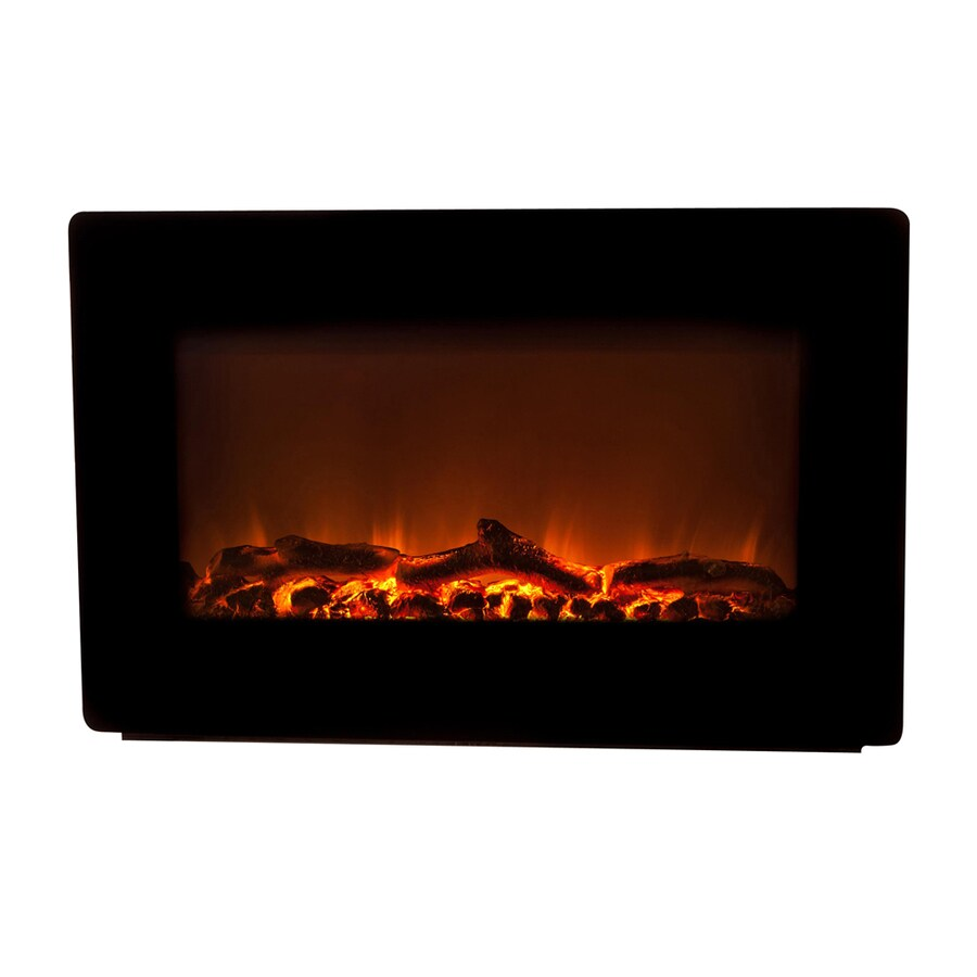 Fire Sense 30-in W 4,780-BTU Black Metal Wall-Mount Fan-Forced Electric Fireplace with Remote Control