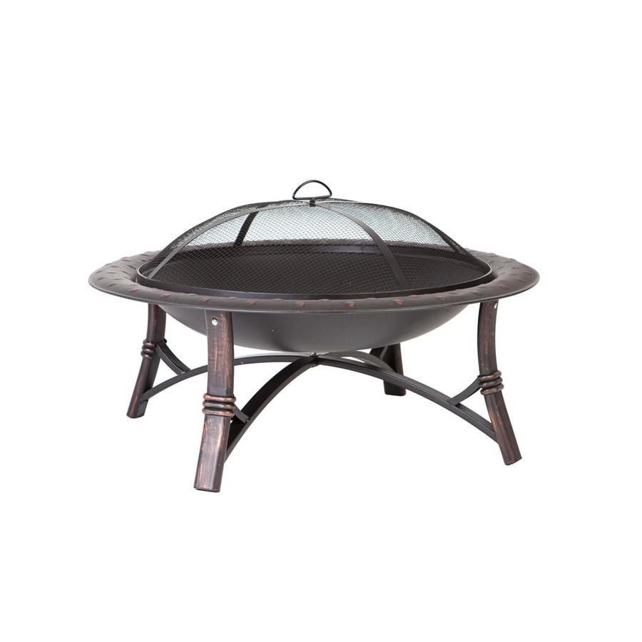 Shop Fire Sense 35-in W Bronze Steel Wood-Burning Fire Pit ...