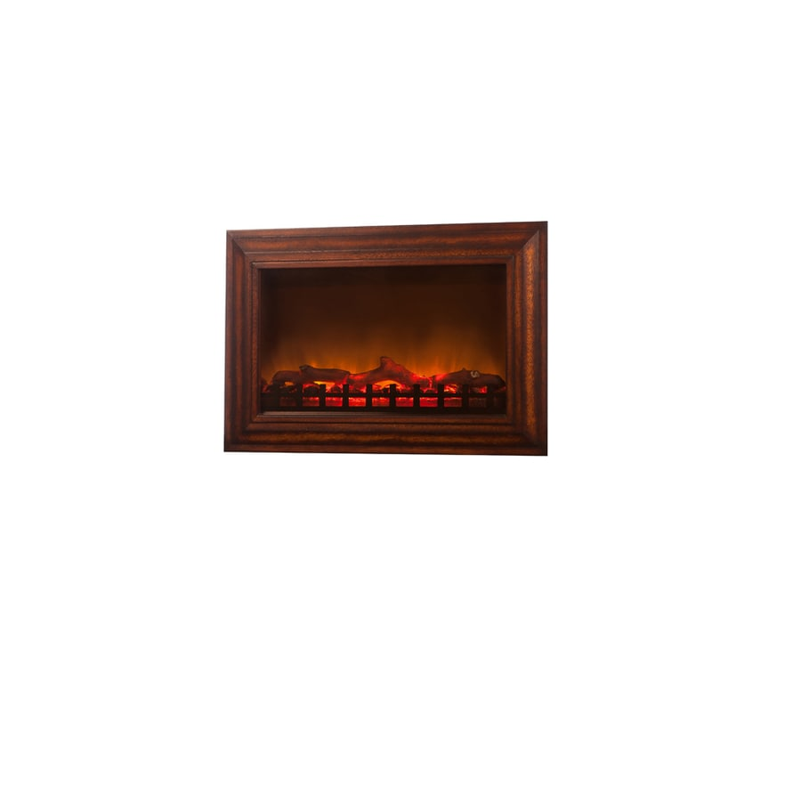 Fire Sense 29.6-in Brown Wall-Mount Electric Fireplace