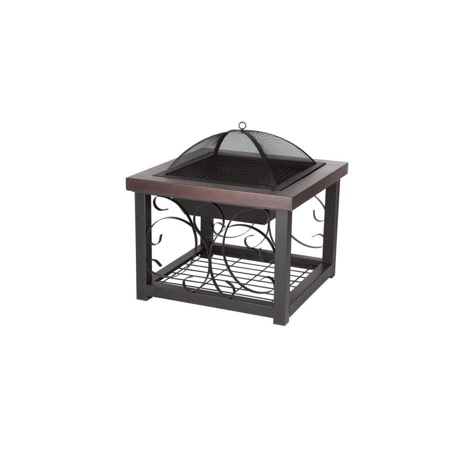 Fire Sense 28.5-in W Bronze Steel Wood-Burning Fire Pit