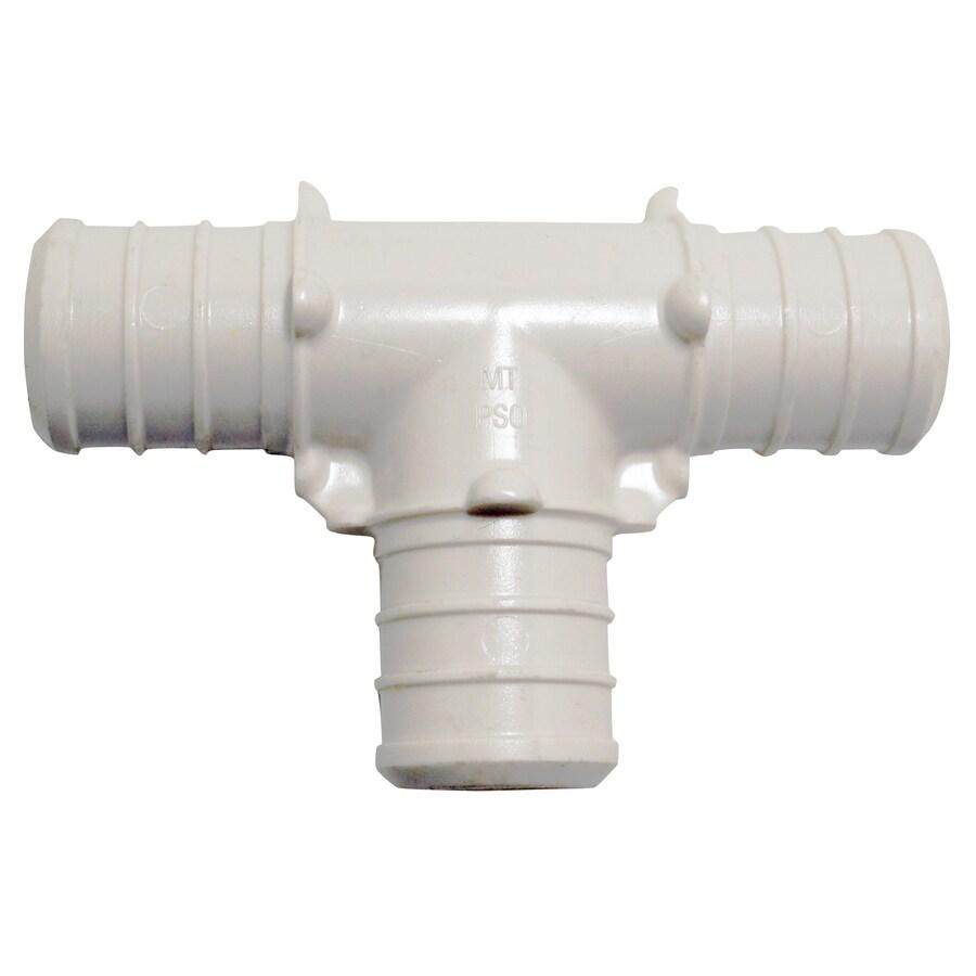 Shop apollo 2 pack 3 4 in dia brass plastic pex tee crimp for Plastic water pipe pex