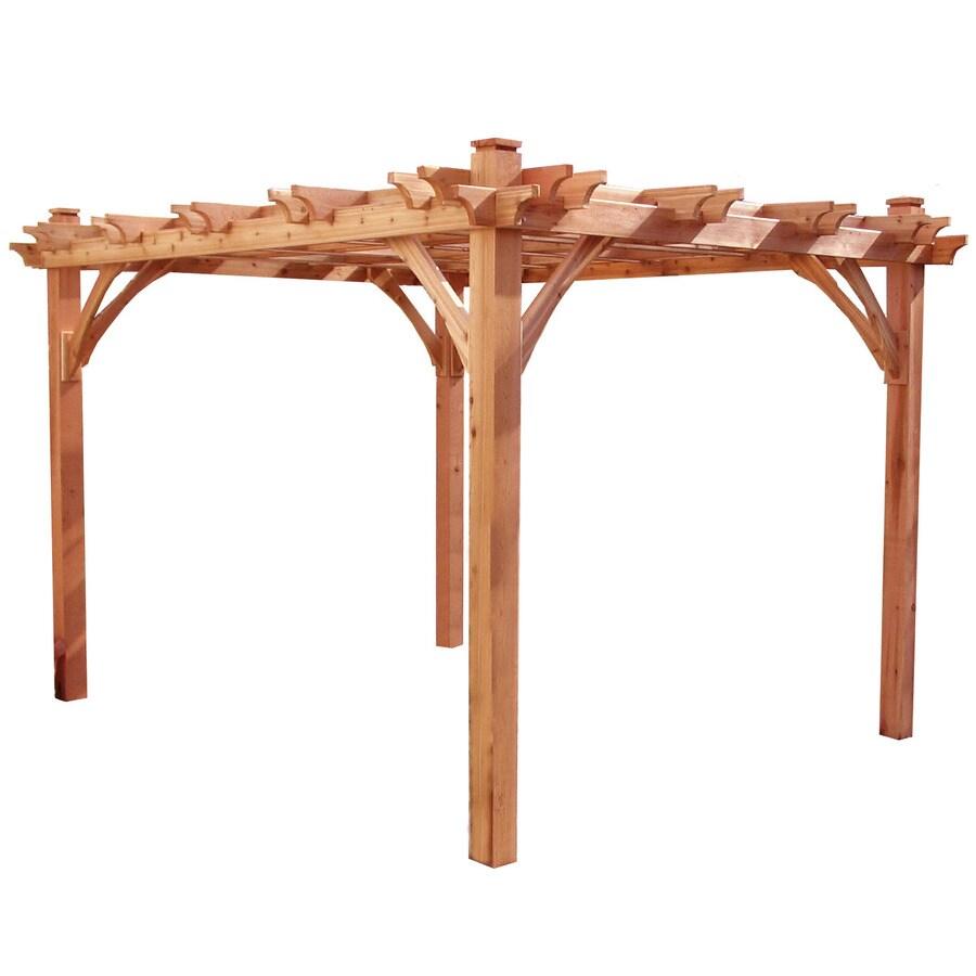 Outdoor Living Today Natural Cedar Freestanding Pergola