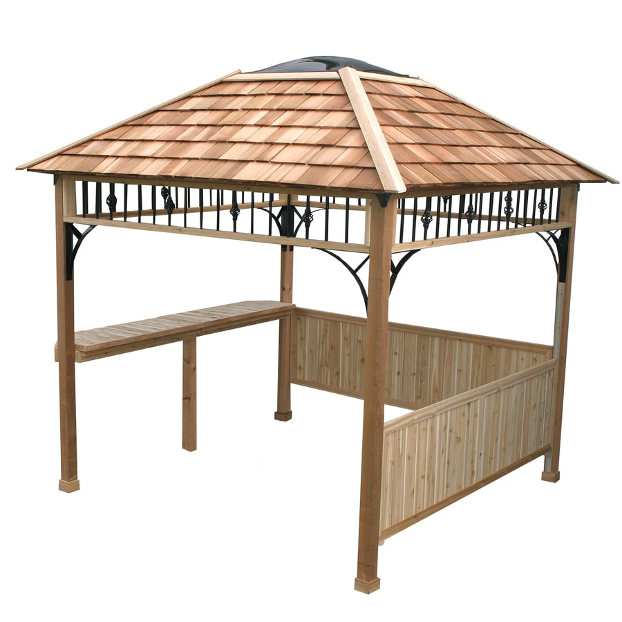 Shop Outdoor Living Today Natural Cedar Wood Grill Gazebo