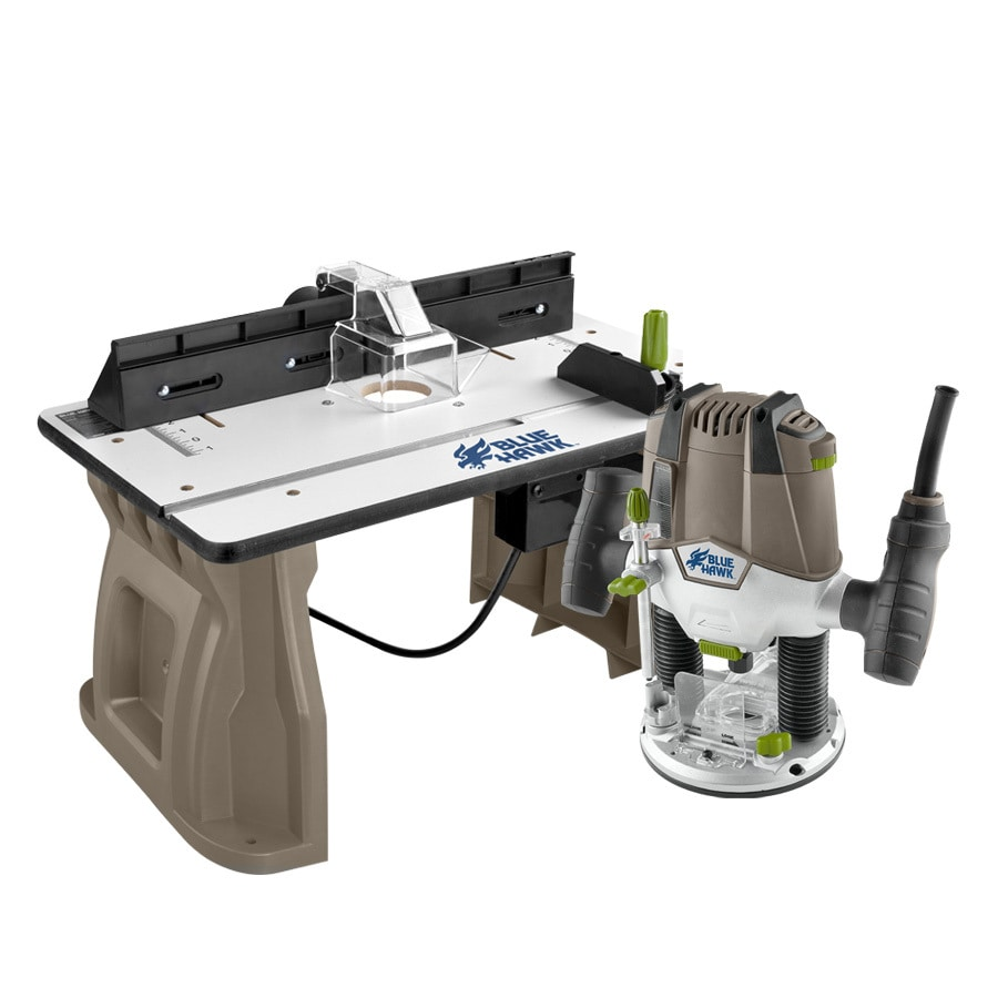 Blue Hawk 1.75-HP Variable Speed Plunge Corded Router with Table