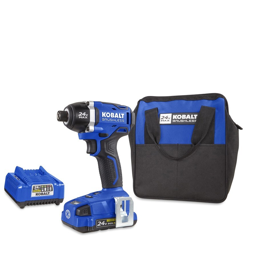 Kobalt 24-Volt Lithium Ion (Li-ion) 1/4-in Cordless Variable Speed Brushless Impact Driver with Soft Case