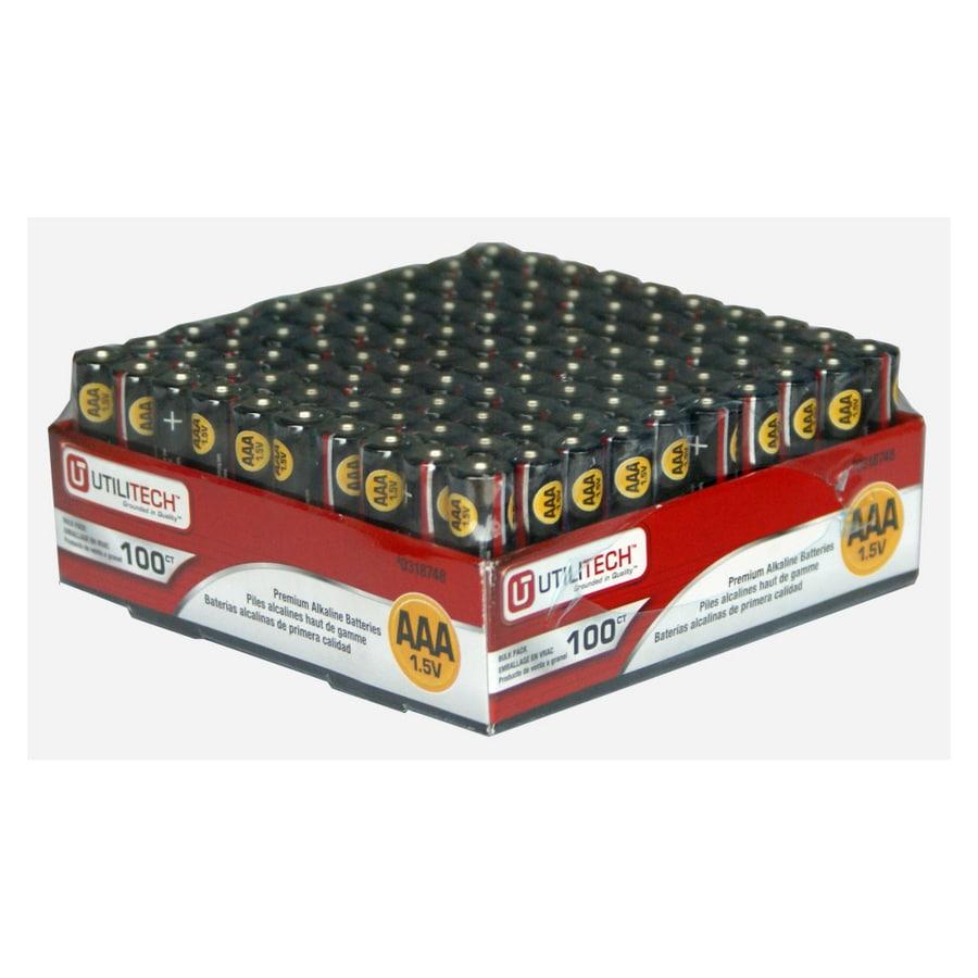 Utilitech 100-Pack AAA Alkaline Batteries