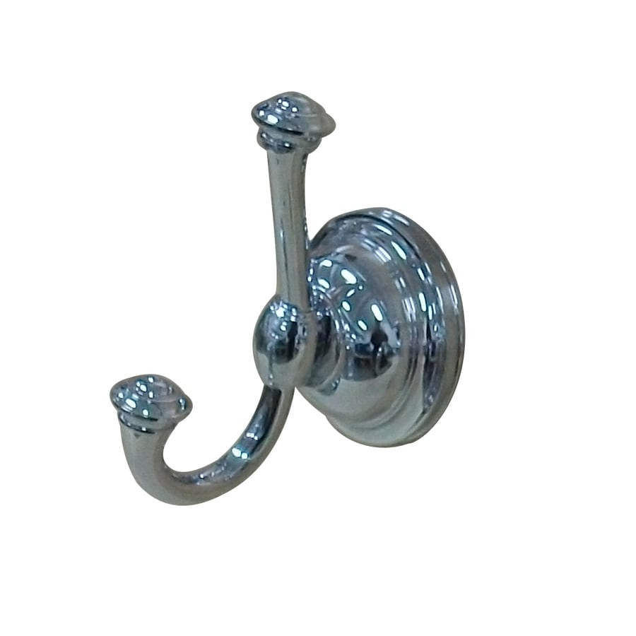 allen + roth Raleigh 1-Hook Polished Chrome Robe Hook