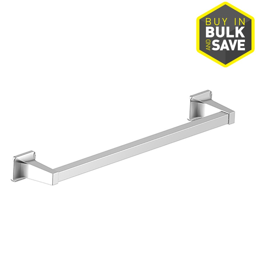 Project Source Seton Polished Chrome Single Towel Bar (Common: 18-In; Actual: 20.28-in)