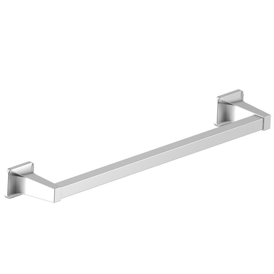 Project Source Seton Polished Chrome Single Towel Bar (Common: 24-In; Actual: 26.28-in)
