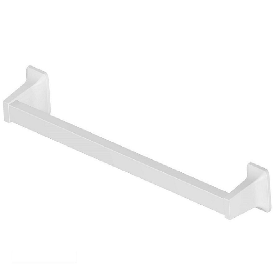 Project Source Seton White Single Towel Bar (Common: 24-In; Actual: 26.28-in)