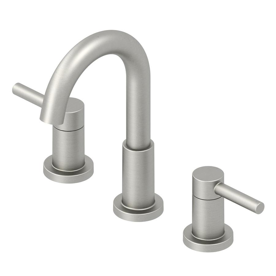 Jacuzzi Duncan Bushed Nickel PVD 2-Handle Widespread WaterSense Bathroom Faucet (Drain Included)