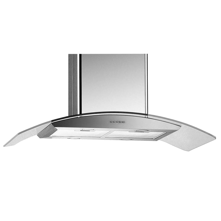 Arda Ducted Island Range Hood (Stainless-Steel) (Common: 36-in; Actual 35.5-in)