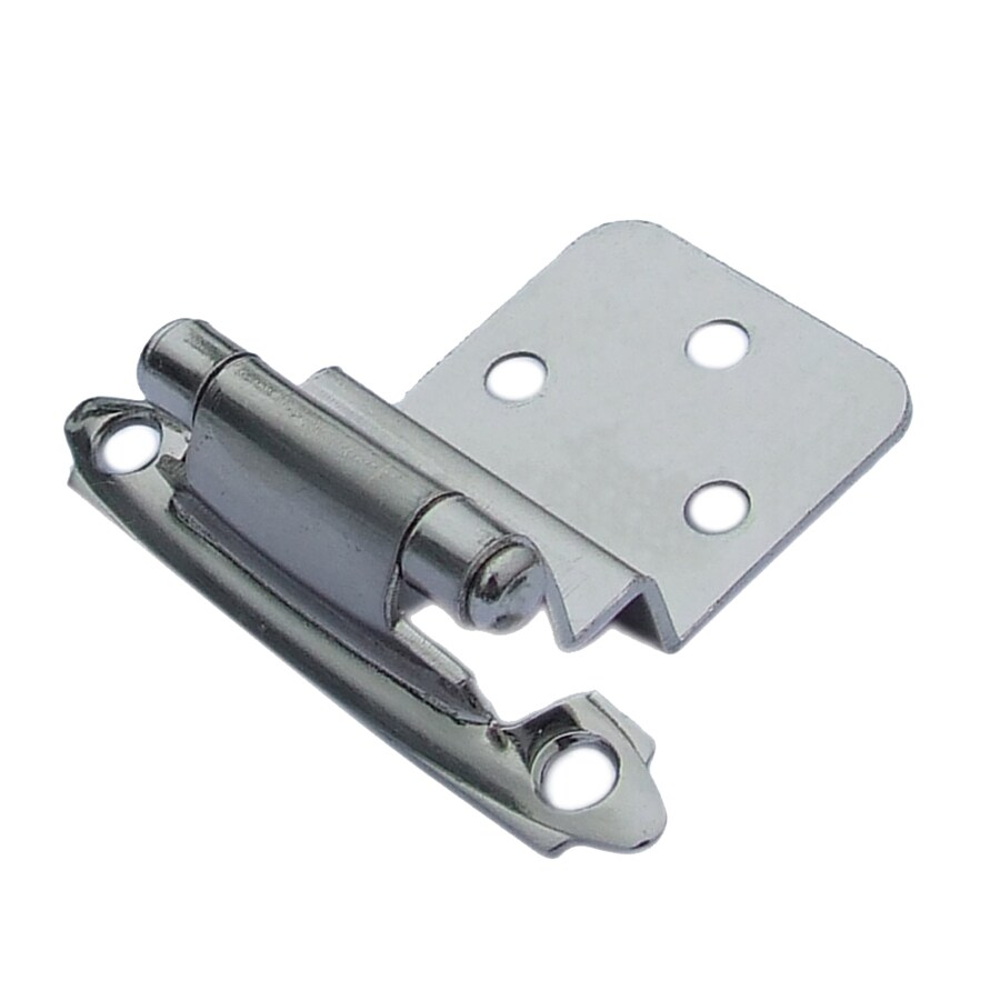 Gatehouse 2-Pack 2-3/4-in x 2-1/8-in Satin Nickel Self-Closing Cabinet Hinges