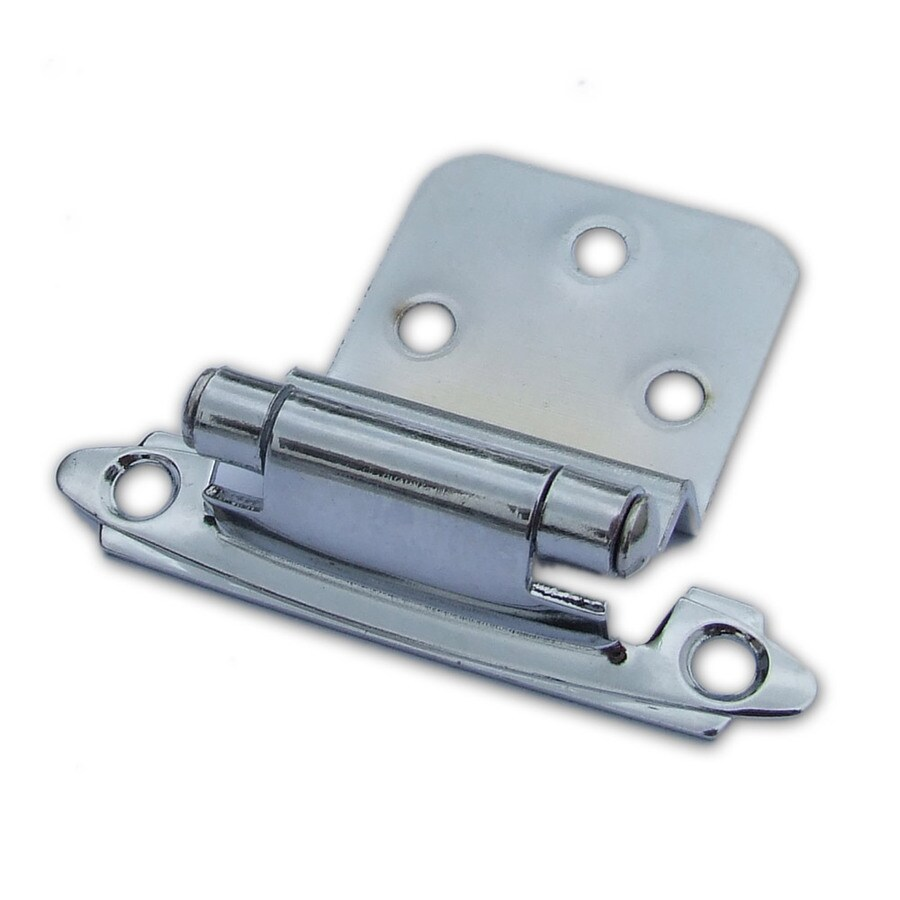 Gatehouse 2-Pack 2-3/4-in x 2-1/8-in Polished Chrome Self-Closing Cabinet Hinges
