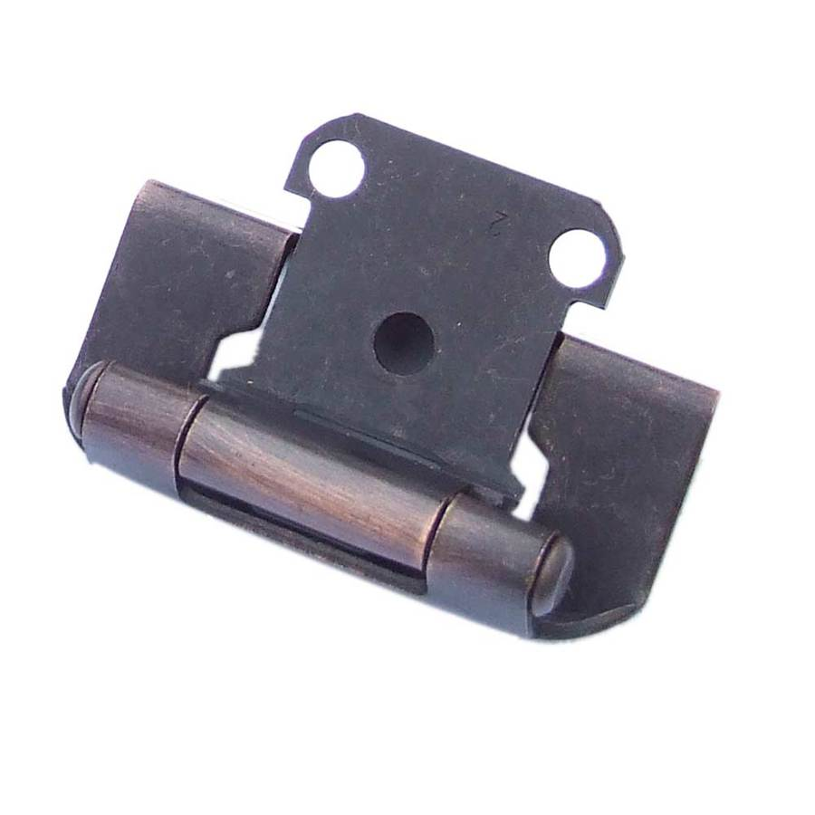 Gatehouse 2-Pack 2-1/4-in x 1-1/2-in Aged Bronze Self-Closing Cabinet Hinges