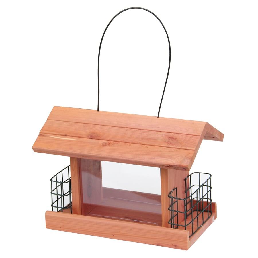 Garden Treasures Natural Cedar Cedar Hopper Bird Feeder