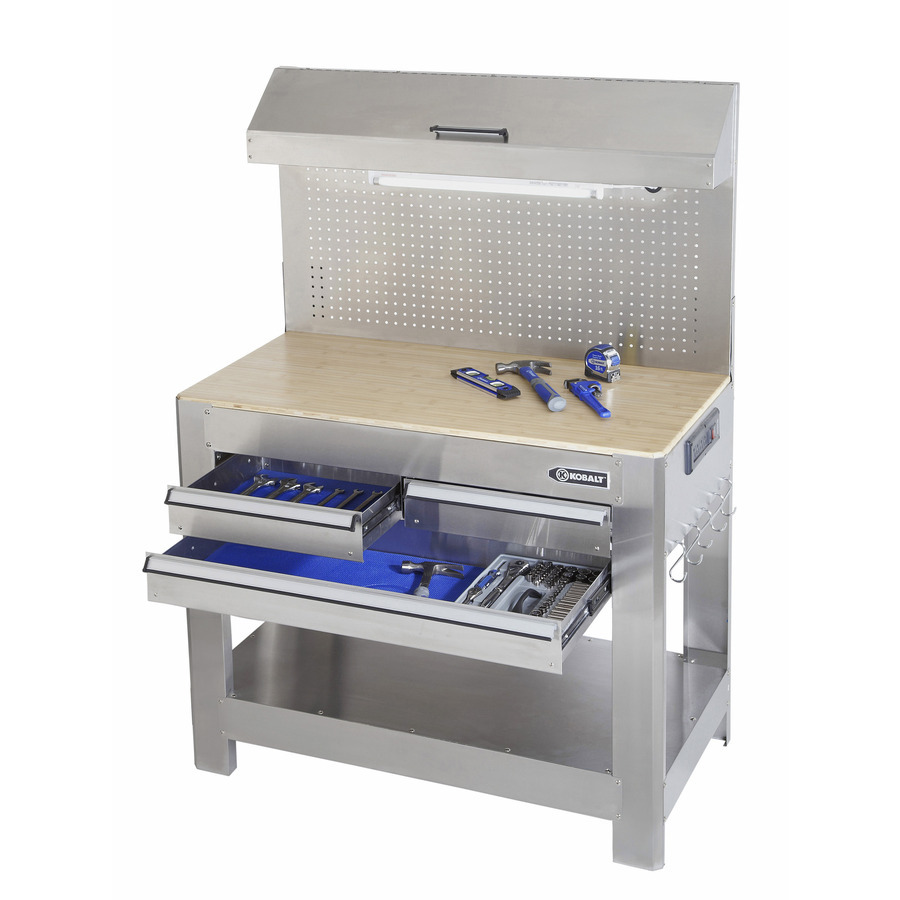 Kobalt 45-in W x 36-in H 3-Drawer Wood Work Bench