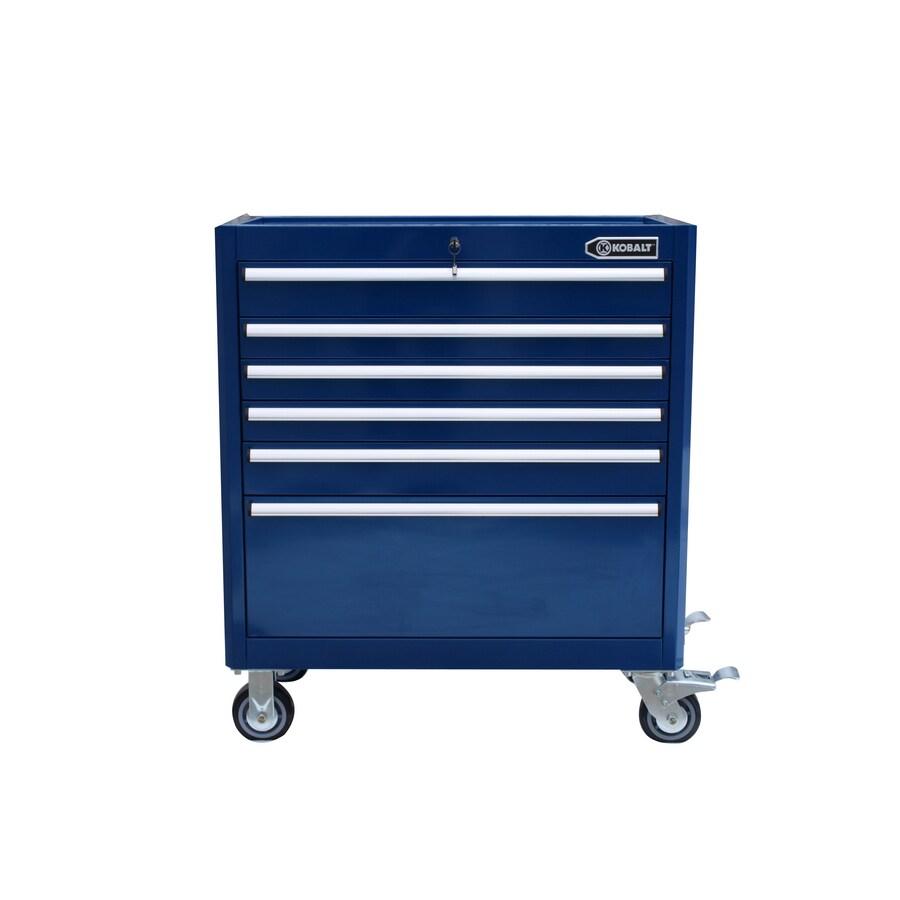 Kobalt 6-Drawer 35-in Steel Tool Cabinet (Blue)