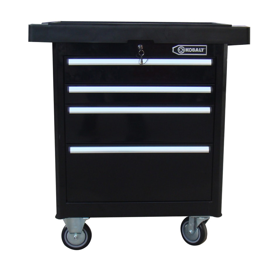 Kobalt 35.7-in x 27-in 4-Drawer Ball-Bearing Steel Tool Cabinet (Black)
