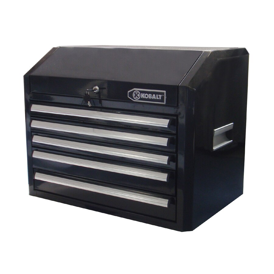 Kobalt 21-in x 27-in 5-Drawer Ball-Bearing Steel Tool Chest (Black)