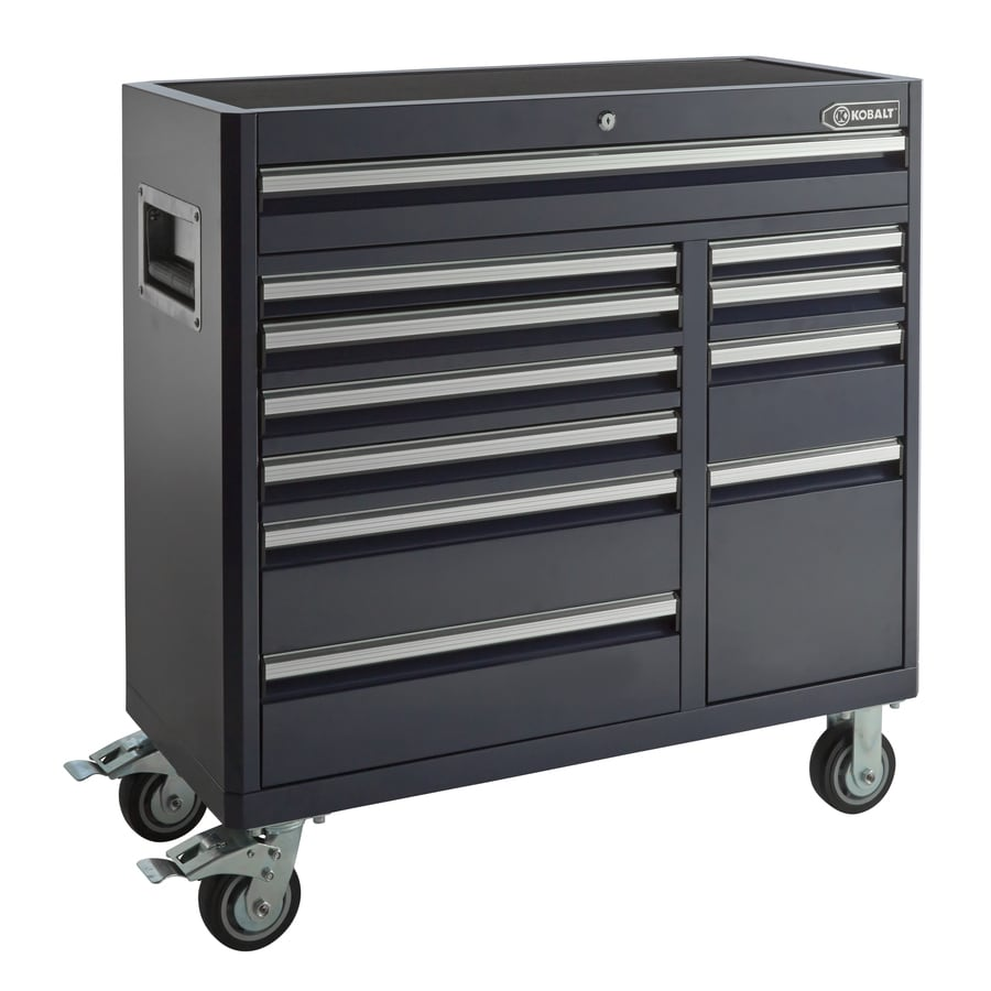 Kobalt 41-in x 41-in 11-Drawer Ball-Bearing Steel Tool Cabinet (Blue)