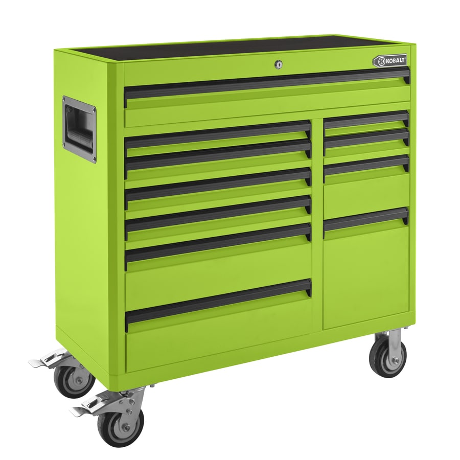 Kobalt 41-in x 41-in 11-Drawer Ball-Bearing Steel Tool Cabinet (Green)
