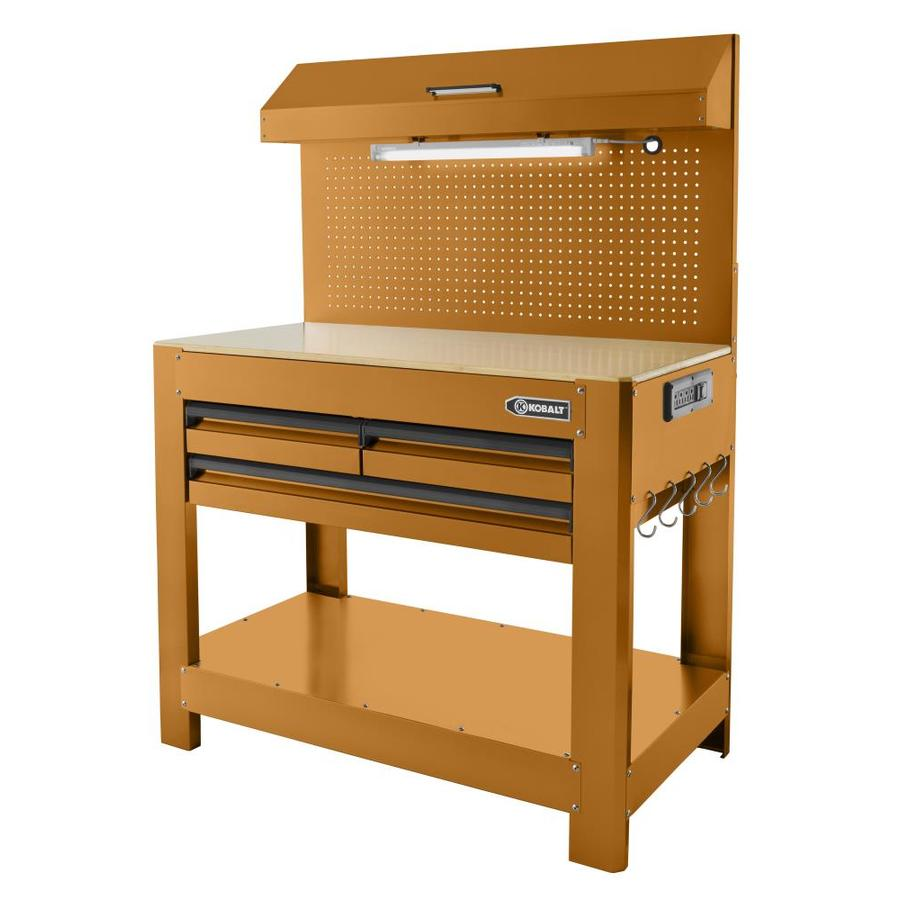 Shop Kobalt 48 In W X 36 In H 3 Drawer Wood Work Bench At