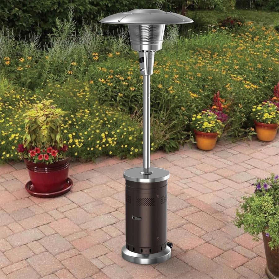Garden Treasures 47 000 Btu Mocha Steel Floorstanding Liquid Propane Patio Heater