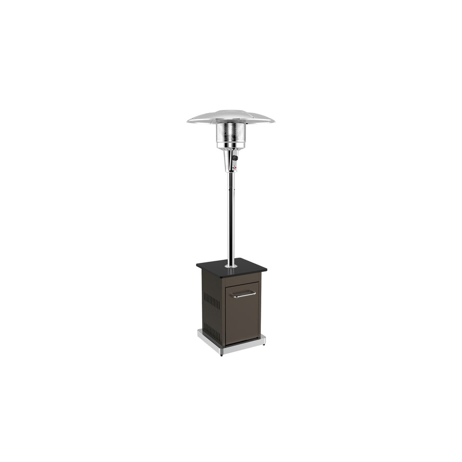 Garden Treasures 45,000-BTU Mocha Steel Floorstanding Liquid Propane Patio Heater