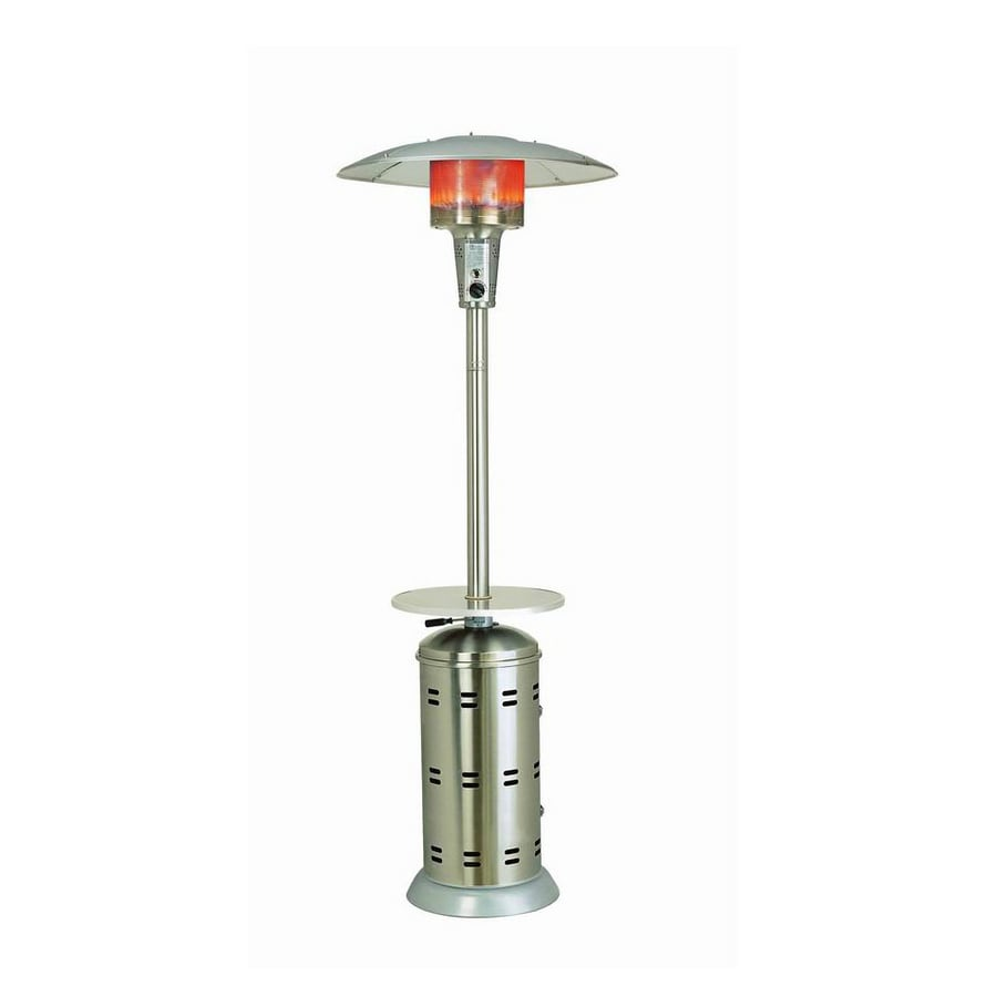 Garden Treasures 40000 Btu Stainless Steel Gas Patio Heater With Table