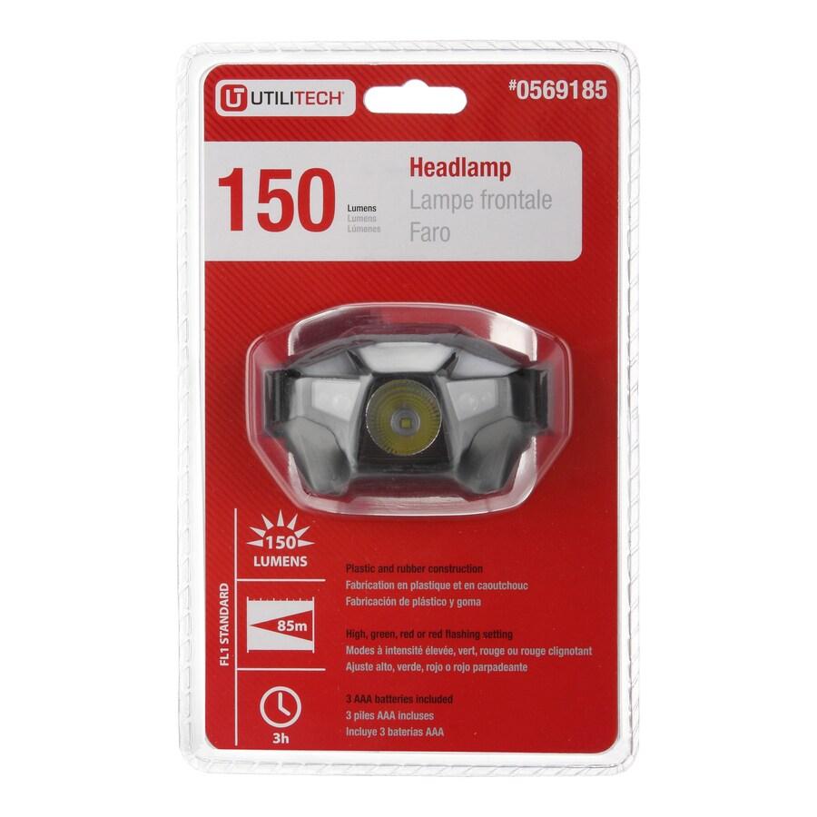 Shop Utilitech 150 Lumen Led Headlamp Battery Flashlight