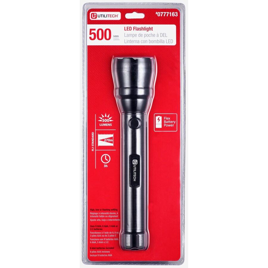 Utilitech 500-Lumen LED Handheld Battery Flashlight