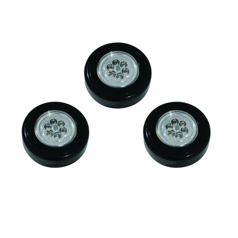 Getinlight Led Puck Lights Kit: Shop Utilitech 3-Pack 2.75-in Battery Under Cabinet LED