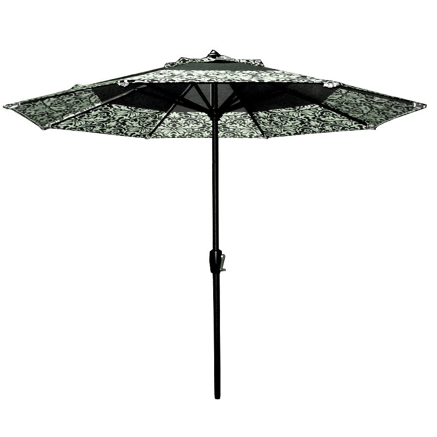 Garden Treasures 8-ft 10-in Black Round Market Umbrella