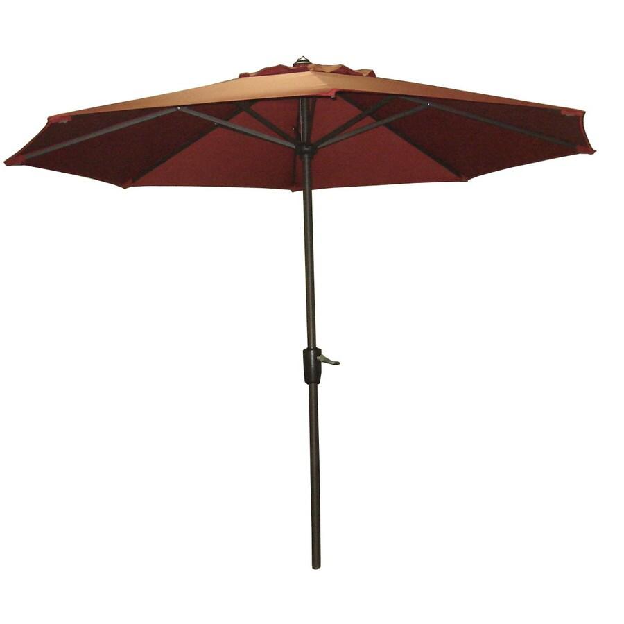 Garden Treasures 8-ft 10-in Rust Round Market Umbrella
