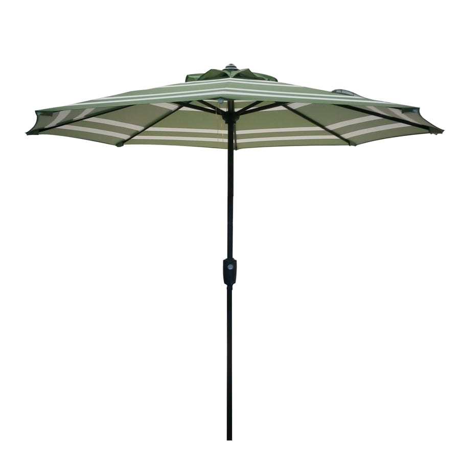shop garden treasures market patio umbrella common 7 5