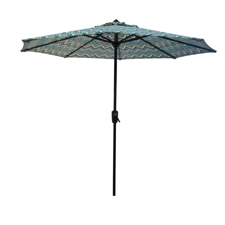 Shop garden treasures patio umbrella common w x for Outdoor patio umbrellas