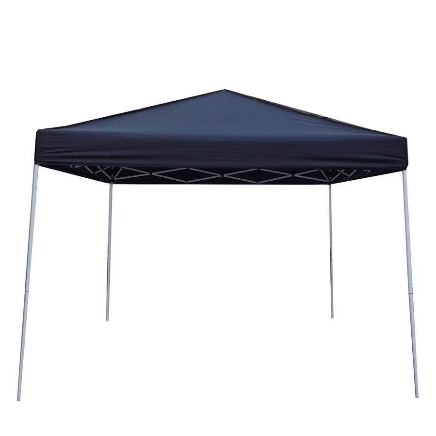 Garden Treasures 8-ft W x 10-ft L Rectangle Black Steel Pop-Up Canopy
