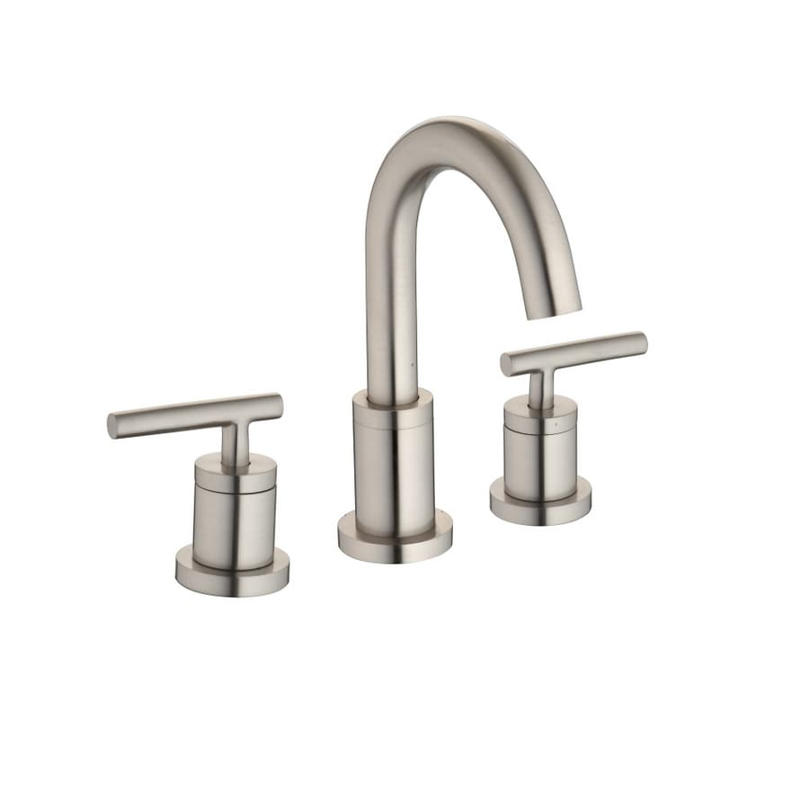 AquaSource Brushed Nickel 2-Handle Bathroom Faucet (Drain Included)