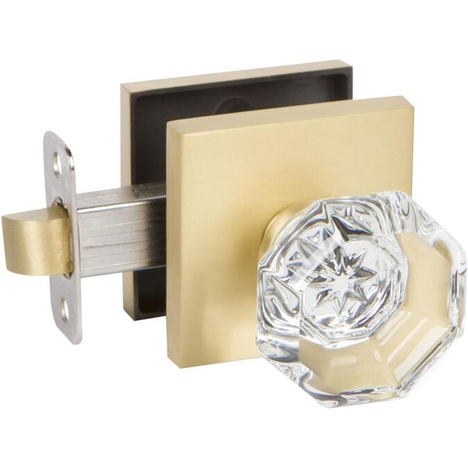 Delaney Hardware Crystal Satin Brass Passage Door Knob in ...