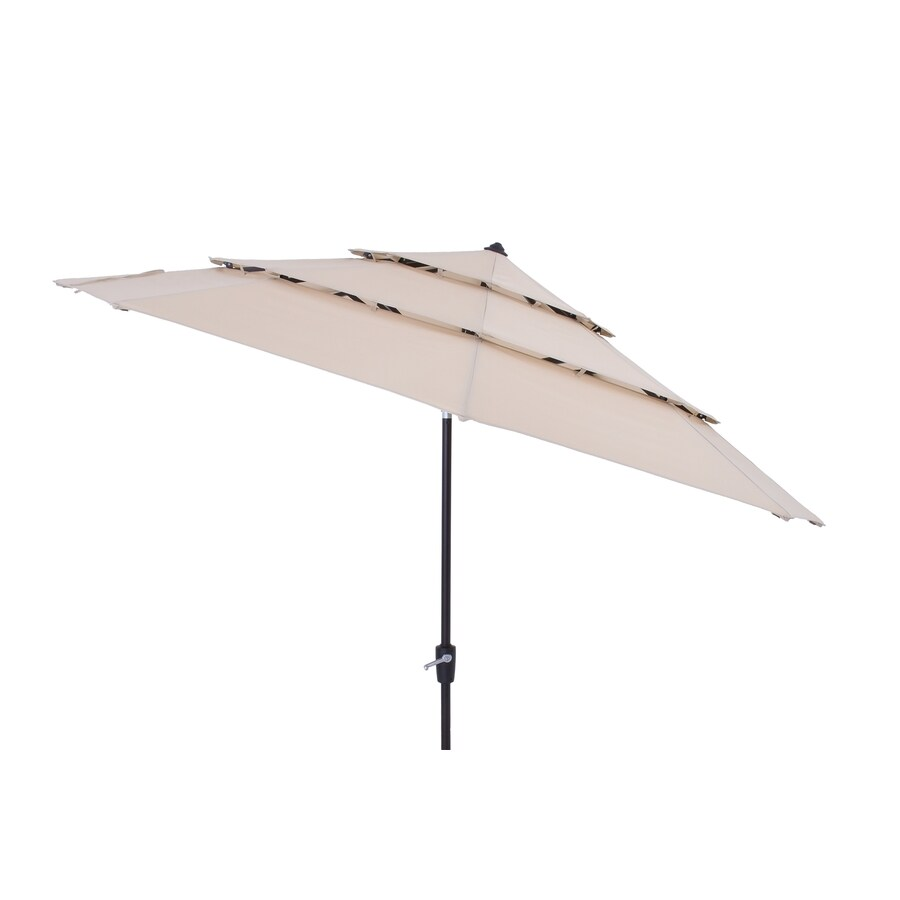 Simply Shade Solid Wheat Market Patio Umbrella Common 11 Ft W X