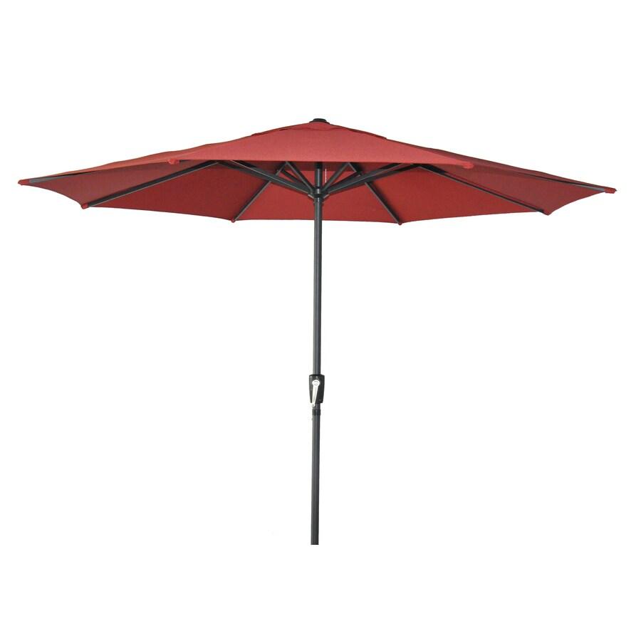 Garden Treasures Patio Umbrella (Common: 105-in W x 105-in L; Actual: 105-in W x 105-in L)