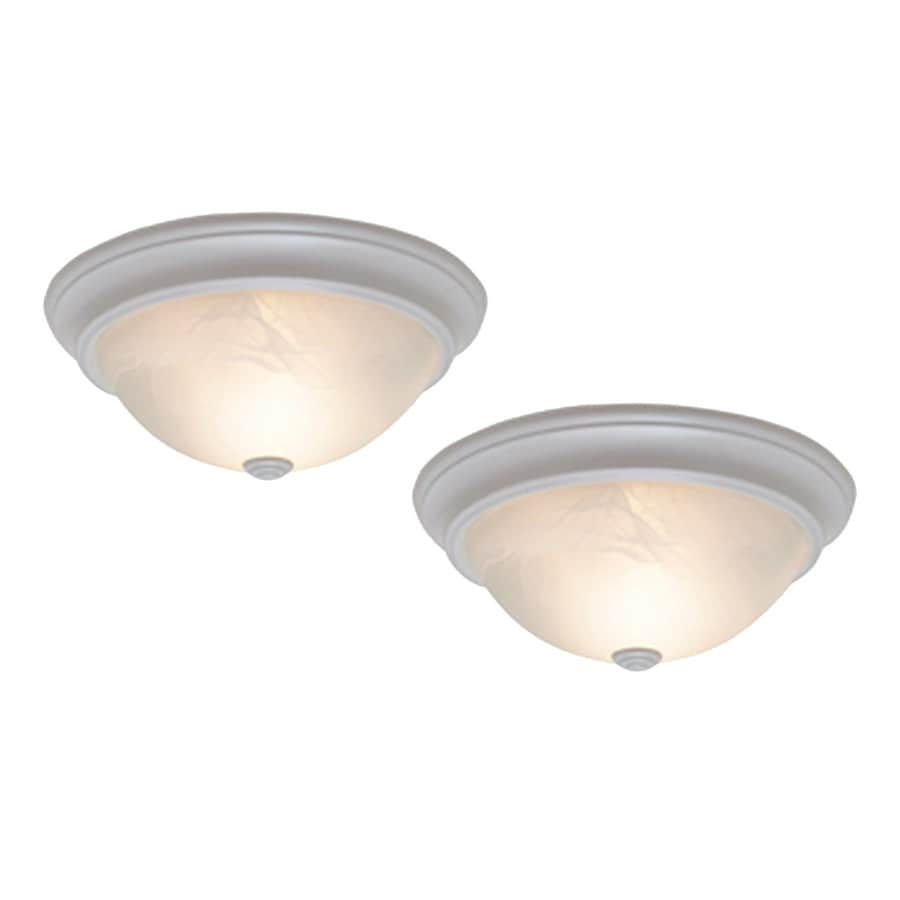 Project Source 2-Pack 13.12-in W White Ceiling Flush Mount