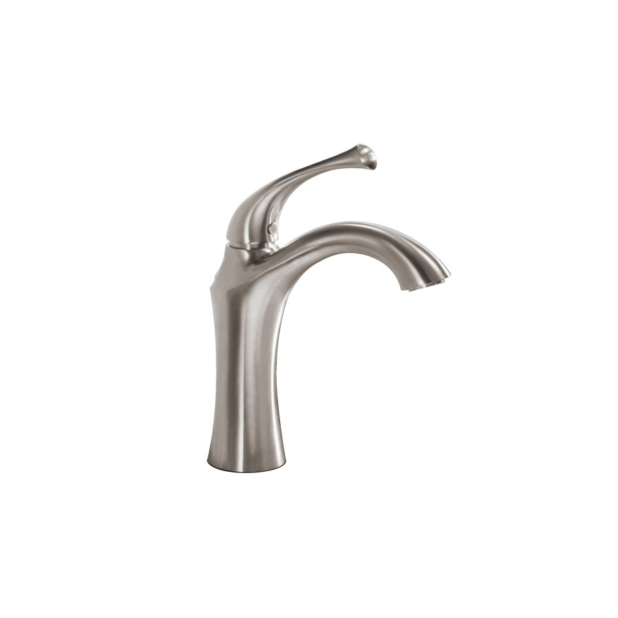 allen + roth Creation Suites Brushed Nickel 1-Handle Single Hole/4-in Centerset WaterSense Bathroom Sink Faucet