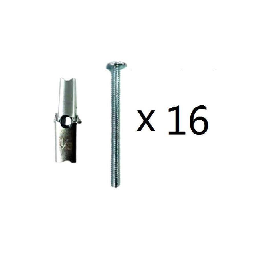 Blue Hawk 16-Pack 2-in x 0.125-in Zinc-Plated Steel Light-Duty All-Purpose Anchor Screws Included