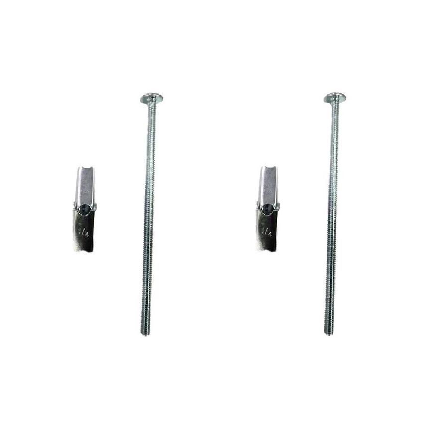 Blue Hawk 2-Pack 6-in x 0.25-in Zinc-Plated Steel Light-Duty All-Purpose Anchors with Screws