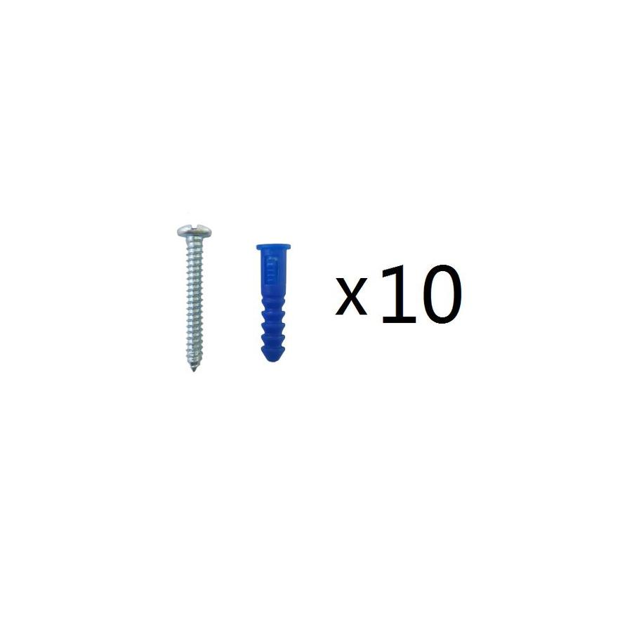 Blue Hawk 10-Pack 1.5-in x 0.19-in Blue Steel Light-Duty All-Purpose Anchor with Screws