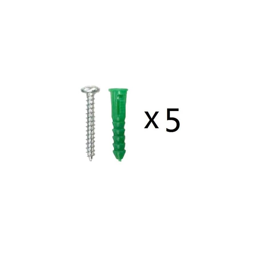 Blue Hawk 5-Pack 1.5-in x 0.216-in Green Steel Light-Duty All-Purpose Anchor Screws Included